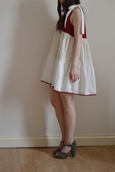 embroidered gathered dress with tie straps by Minus Sun