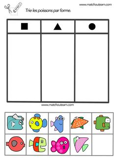 mikapanteleon-PawakomastoNhpiagwgeio: Summer in Kindergarten … – Best Art images in 2019 Preschool Printables, Kindergarten Activities, Fun Activities, 2d And 3d Shapes, Fish Shapes, Summer Camp Crafts, Camping Crafts, The Ocean, Daycare Themes