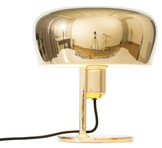 COPPOLA Table Lamp in all Gold. Design by Christophe de la Fontaine for FORMAGENDA. Ceramics, rotatable Shade. Available at www.formagenda.com
