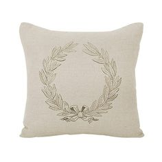 I pinned this French Pillow 11 from the Design Report: Shades of Grey event at Joss and Main! The beautiful French Pillow 11 brings warm Provencal style to your bedroom or living room décor. Wrapped in natural linen, this sumptuous throw showcases a lovely laurel wreath motif and plush, comfortable duck feather fill.