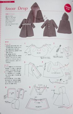 Doll coat for Skipper or Lottie, if resized