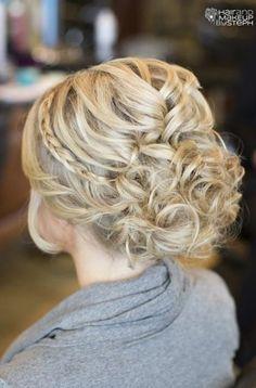 hair hair updos Creative and Elegant Wedding H Wedding Hairstyles For Long Hair, Fancy Hairstyles, Wedding Hair And Makeup, Hair Makeup, Bridal Hairstyles, Bridesmaid Hairstyles, Style Hairstyle, Hairstyle Ideas, Homecoming Hairstyles