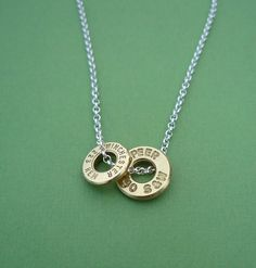 awesome bullet casing top necklace .223 Remington and .40 Smith and Wesson sterling silver chain. $35.00, via Etsy.