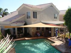 Pool Shade Shade Structure And Shade Sails On Pinterest