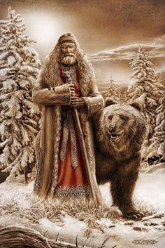 Veles is a major Slavic supernatural force of earth, waters and the underworld… Les Religions, Desenho Tattoo, Norse Mythology, Russian Mythology, Mountain Man, Russian Art, Gods And Goddesses, Mythical Creatures, Deities