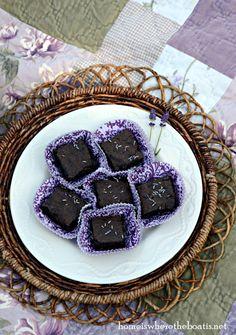 Lavender brownies we love making these
