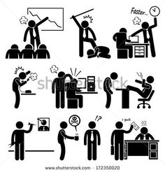 Angry Boss Abusing Employee Stick Figure Pictogram Icon by Leremy, via Shutterstock