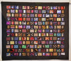 """""""Phil's Ties"""" : a memory quilt by Mario Alonso: """"Phil was. an avid tie collector. I was the proud recipient of many of his ties whenever he purged his closet. This quilt is in memory of him and was made with over 120 of Phil's ties. Necktie Quilt, Shirt Quilt, Quilting Projects, Quilting Designs, Old Ties, Tie Crafts, American Quilt, Boy Quilts, Machine Quilting"""