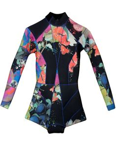Cynthia Rowley Wetsuit made from neoprene, color-blocked with pops of spring color. New take on a swim suit that is form fitting, flattering, and fashionable. Surf Wear, Beach Wear, Surf Style, My Style, Skate Style, Neoprene, Cynthia Rowley, Shorts, Wetsuit