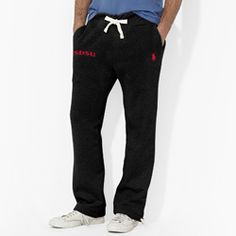 Ralph Lauren Sweat Pants Men's Polo Ralph Lauren sweat pants with two front pockets and drawstring waistband & bottom hems, featuring the iconic pony logo embroidered on the left leg and SDSU on the right leg. $89.50