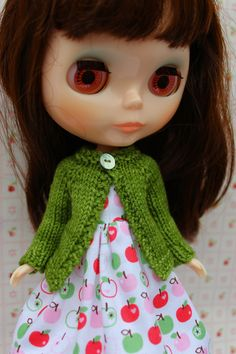 BLYTHE doll hand knit wool cardigan sweater by TiredMomKnits