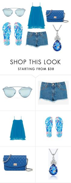My Blue Set #1 by sandstormthenerd on Polyvore featuring Manon Baptiste, rag & bone, Lilly Pulitzer, Urban Expressions and Christian Dior