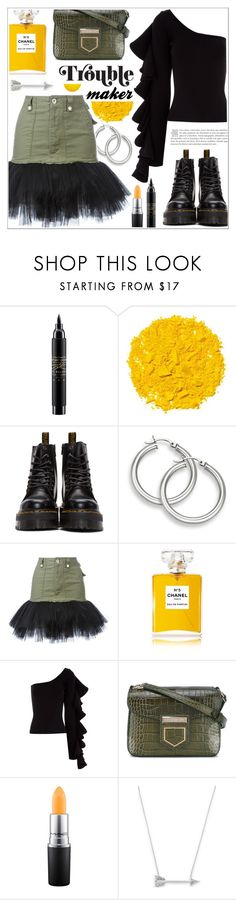 """""""My kinda beautiful ♥"""" by teryblueberry ❤ liked on Polyvore featuring MAC Cosmetics, Illamasqua, Dr. Martens, Unravel, Chanel, Beaufille, Givenchy and Estella Bartlett"""