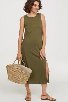 Šaty bez rukávů - Khaki zelená - ŽENY  5fc0bcc42c