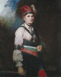 Joseph Brant, aka Thayendanagea (Mohawk chief, mentioned in AN ECHO IN THE BONE)