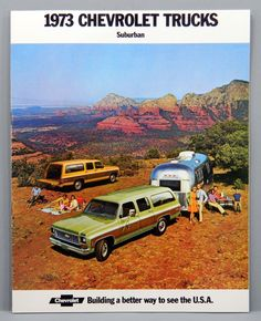 Chevrolet 1973 Chevy Suburban Sales Brochure Full Color with Specs & Color Chart epsteam 11976 by QueeniesCollectibles on Etsy