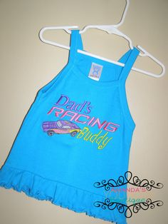 Dad's Racing Buddy Embroidered Shirt by AYBoutique on Etsy, $22.00