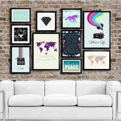 Kit Full Wall Travel - Encadreé Posters