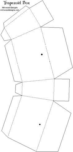 Printable Templates  Pyramid Box Template  Printable