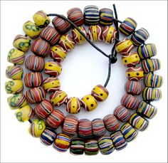 From my collection: Antique Venetian beads from the African trade.