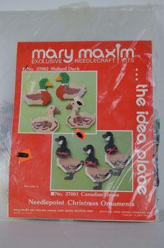 #Mary #Maxim #37082 #Mallard #Ducks #Needlepoint #Christmas #Ornaments #MaryMaxim