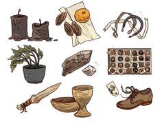 onesmallplanet Marian Churchland's drawings of stuff  Real object wants interspliced with strange objects for fantasy adventurers. Just really good.