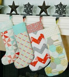 This is the year I'm going to FINALLY make stockings for our family. They will be THESE stockings.