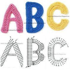 Crochet letters free pattern