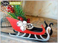 Sizzix Inspiration | Sleigh Ride Ornament by Hilary Kanwischer