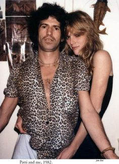 Keith Richards Patti Hansen 1982