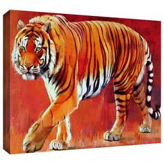 ArtWall Mark Adlington 'Bengal Tiger' Gallery-Wrapped Canvas | Overstock.com Shopping - Top Rated ArtWall Canvas