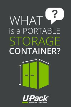 Portable storage containers are sturdy boxes that get dropped off at a home for loading, and then get moved with belongings locked inside. Learn more.