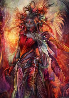 Sylvari inspired by *vinegar on deviantART