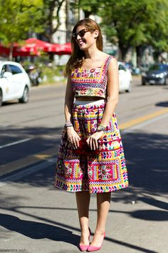 spring trends - crop top and midi skirt- in the list Indian Fashion Dresses, Dress Indian Style, Indian Designer Outfits, Indian Wear, Fashion Outfits, Indian Outfits Modern, Garba Dress, Navratri Dress, Dandiya Dress