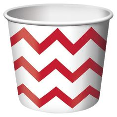 Red Chevron 8oz Paper Treat Cups - 6 count : Target