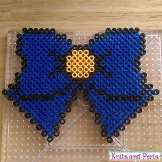 Sailor Venus bow perler beads by knitsandperls