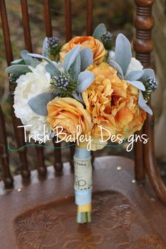 French Country Chic Mustard & Cream Wedding by TrishBaileydesigns