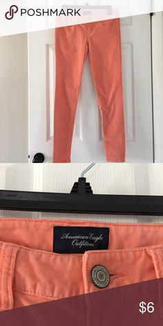 American Eagle thin corduroys Super stretch Peach pants American Eagle Outfitters Pants Skinny