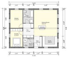 bg1 bungalow grundriss 90qm 3 zimmer
