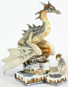 Winters Tail Dragon - $29.99 - A frosty dragon with an appetite for reading!