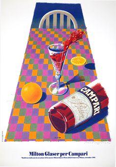 Milton Glaser, artwork for Campari poster, 1992.
