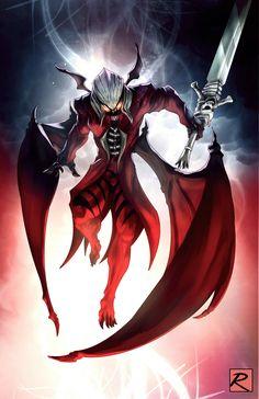 Done by robbie reilly on artstation. Dante devil form