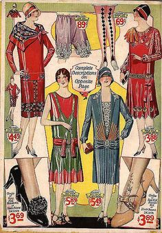 1928 - love the diamond-patterned stockings, the purple silk drawers/knickers, and the shoes!