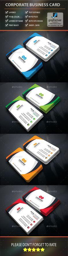 Creative Corporate Business Card Template PSD