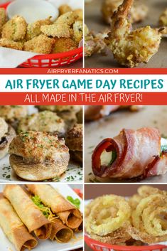 Get ready for game day with these 25 Game Day Air Fryer Recipes! These can be made in the #Vortex, #AirFryer, or #NinjaFoodi! #GameDay #Football