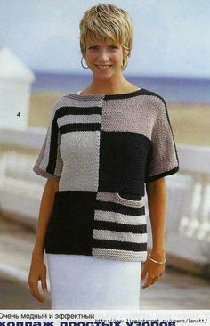 """Letter """"📌 We found new pins for your access … – Надо попробов… – Stricken Sweater Knitting Patterns, Knitting Designs, Knitting Stitches, Crochet Blouse, Knit Crochet, Tricot D'art, Summer Knitting, Winter Fashion Outfits, Diy Clothing"""