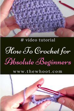 Beginner Crochet Tutorial, Crochet Stitches For Beginners, Beginner Crochet Projects, Crochet Instructions, Sewing Projects For Beginners, Crochet Basics, Knitting For Beginners, Easy Knitting, Start Knitting