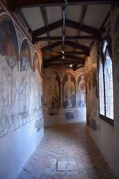 Gentile da Fabriano e bottega - Ponte sospeso - ciclo di affreschi frammentario - 1411-1412 - Palazzo Trinci a Foligno