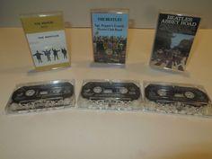 Lot of 3 Vintage Beatles Cassette Tapes - Help! - Sgt. Pepper's - Abbey Road
