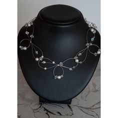 Unique Bridal Necklace with Swarovski Beads and by elietteboutique, $55.00